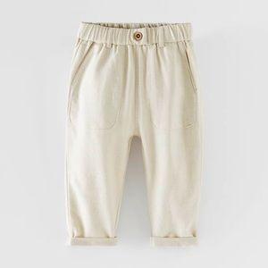 "🛍""Zara"" Natural Flowy Pants in Various Sizes!"